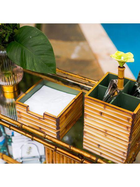Porta-Talher-Bambu-Flor-Verde